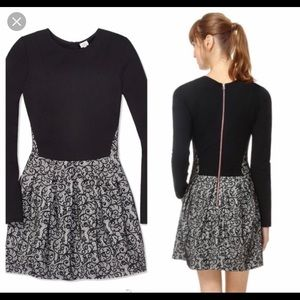 Aritzia Wilfred Black with Pattern Dress size 2